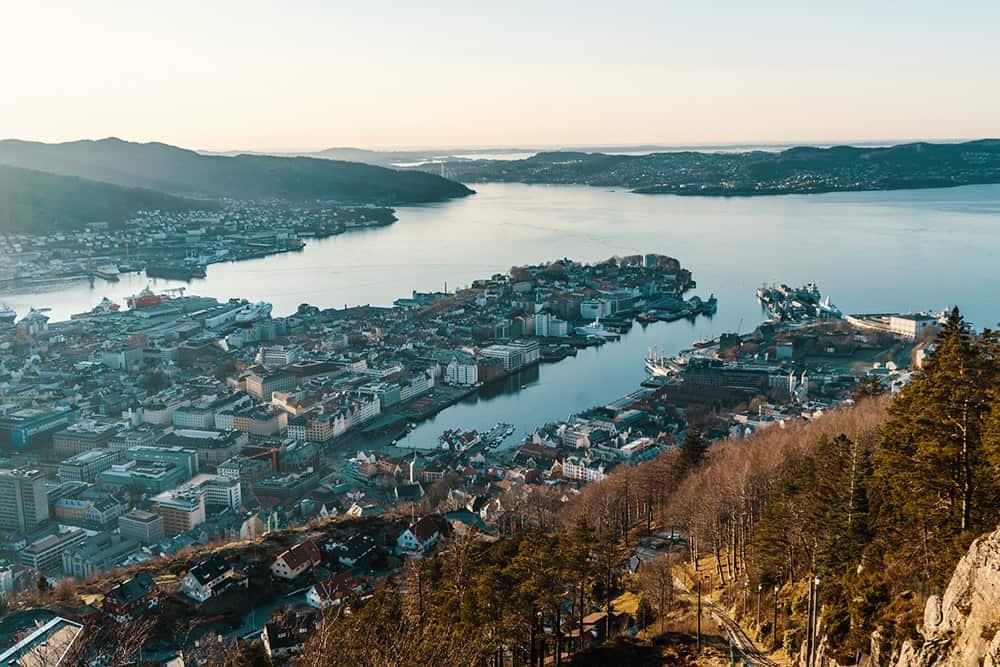 Bergen Norway Drone Aerial Sky