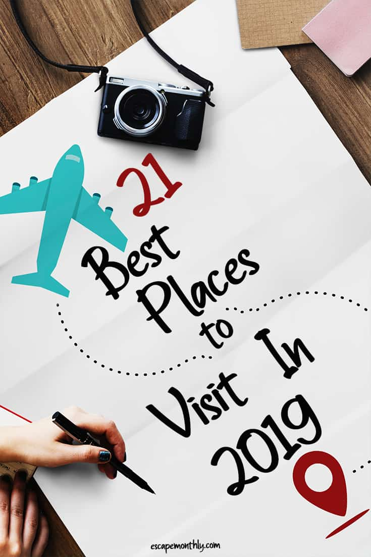 Best places to visit in the World 2019 pin