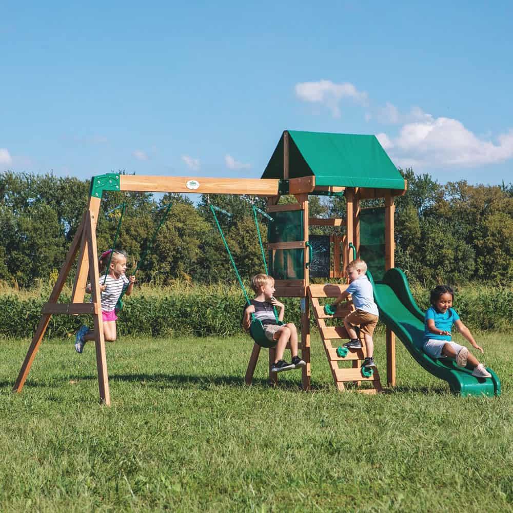 Buckley Hill Wooden Swing Set