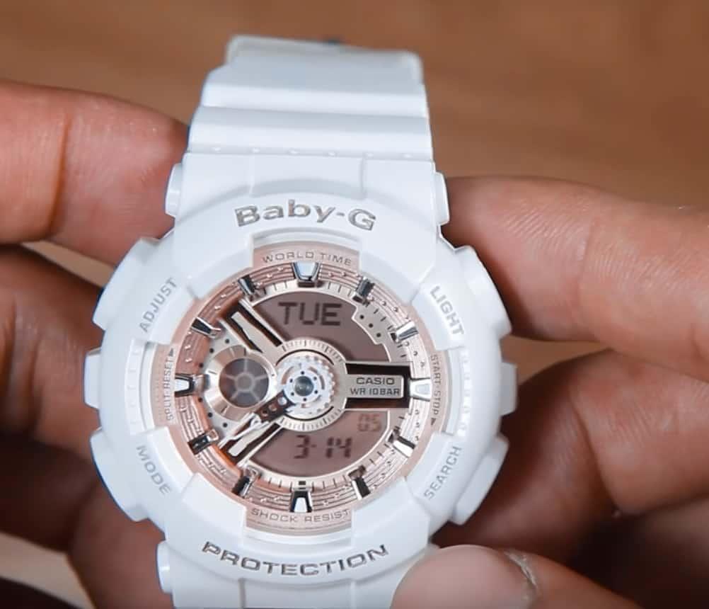 Casio Baby-G White Rose Ladies Front