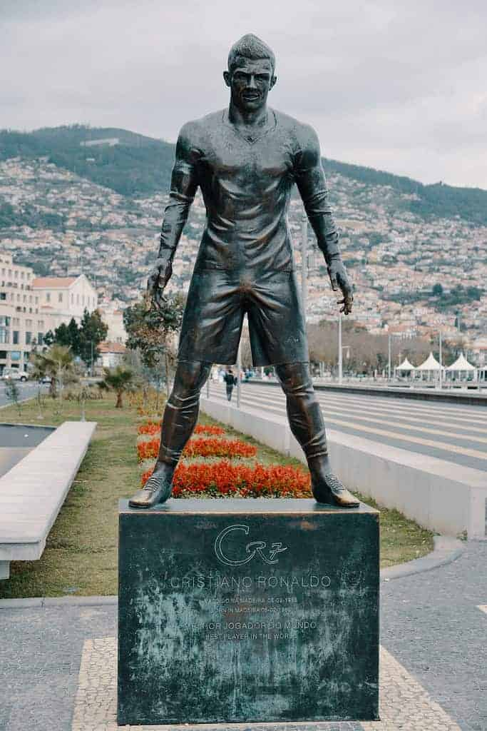 Cristiano Ronaldo Statue Madeira