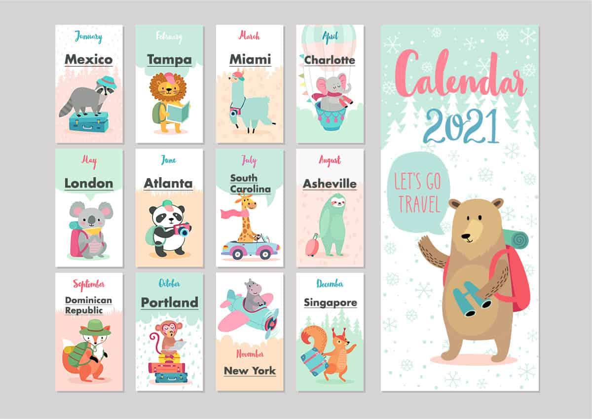 Destinations 2021 Calendar
