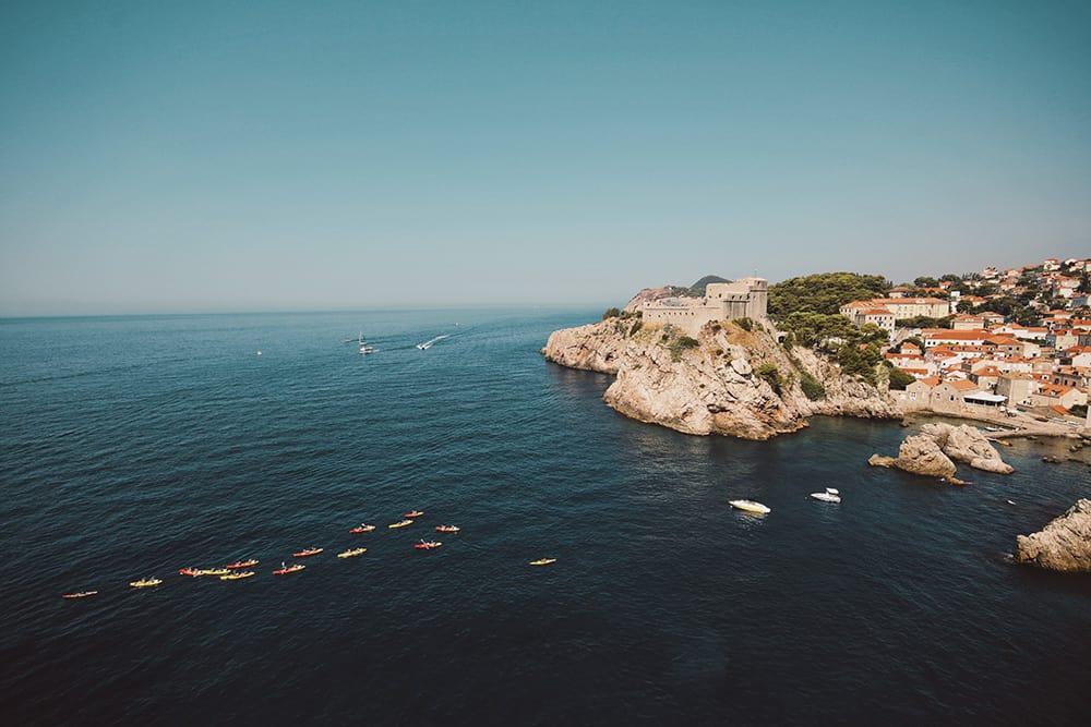 Dubrovnik Croatia Drone Aerial View