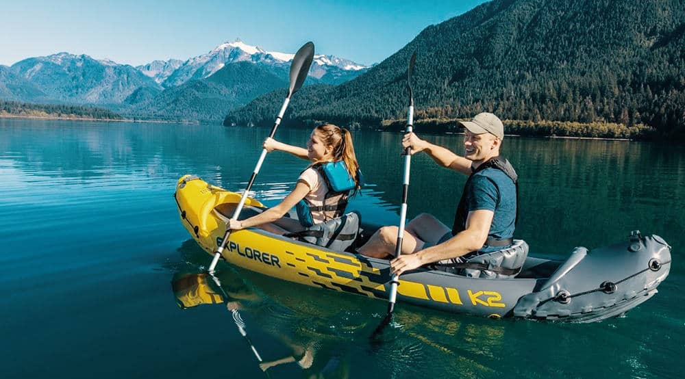 Explorer K2 Kayak in Action