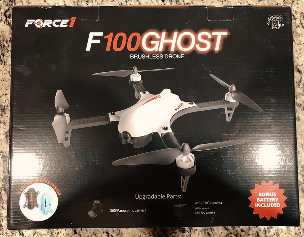 Force1 F100GP Ghost with GoPro Camera Mount