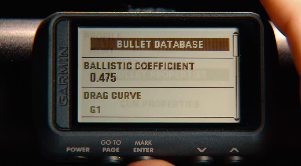 Garmin Foretrex 701 Bullet Ballistic Database