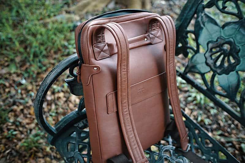 Harber London Slim Laptop Backpack Backview