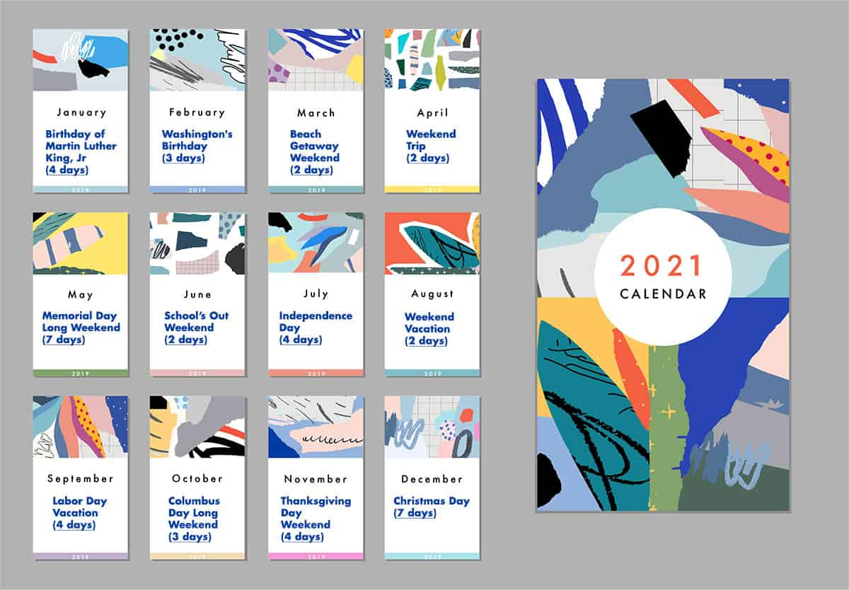 Holidays 2021 Calendar