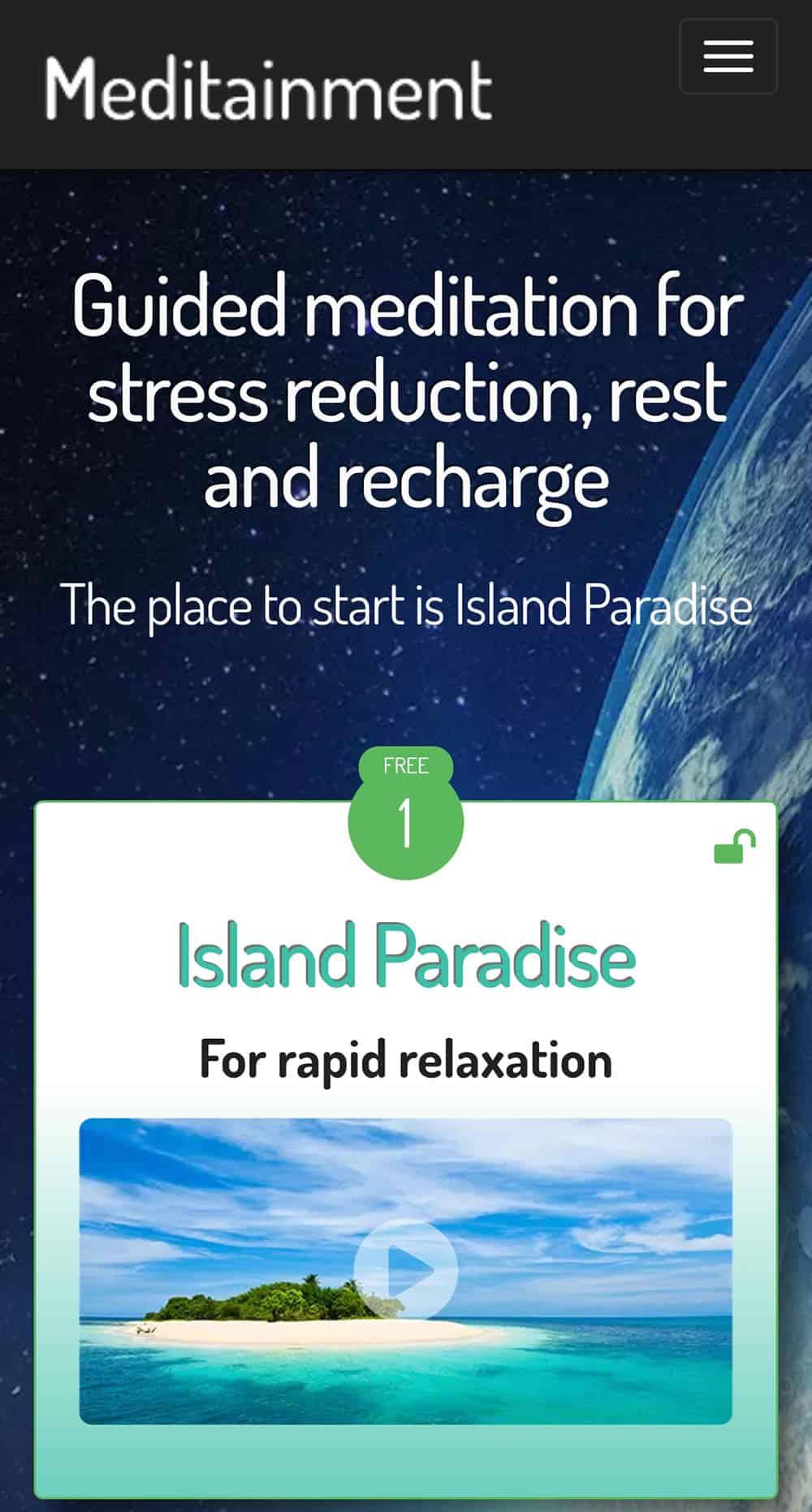Meditainment Guided Meditations App