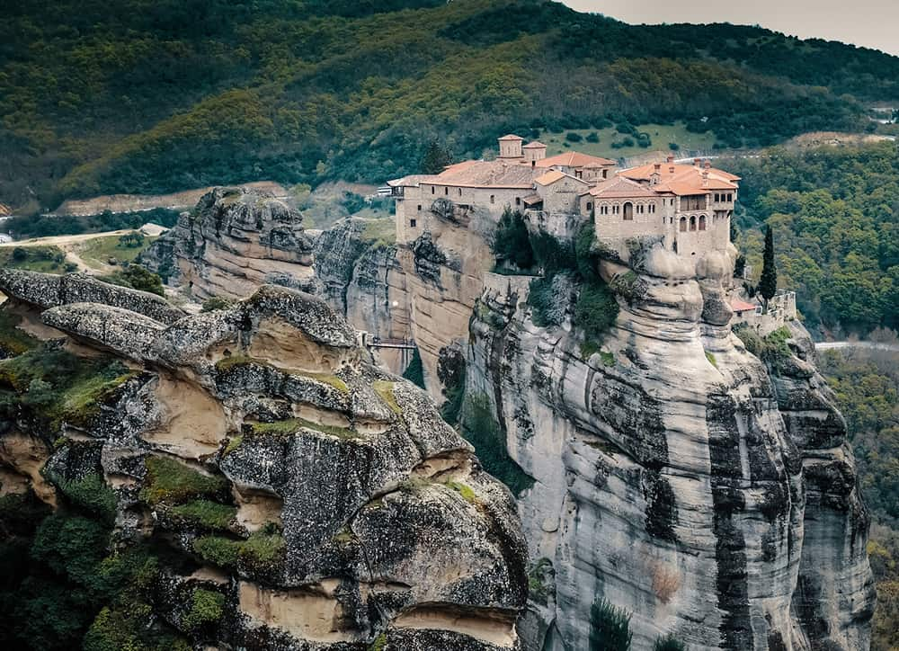 Meteora Greece Drone Aerial View