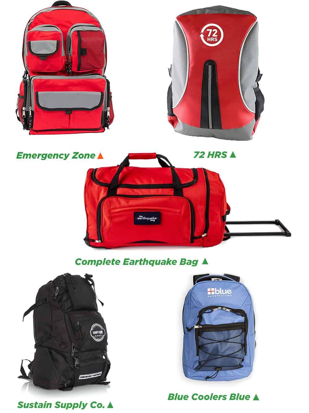 Survival Bagpack Comparison